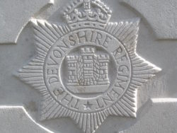 Cap badge of the Devonshire Regiment