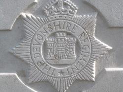 Cap badge of the Devonshire Regiment