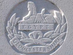 Capbadge of the Gloucestershire Regiment