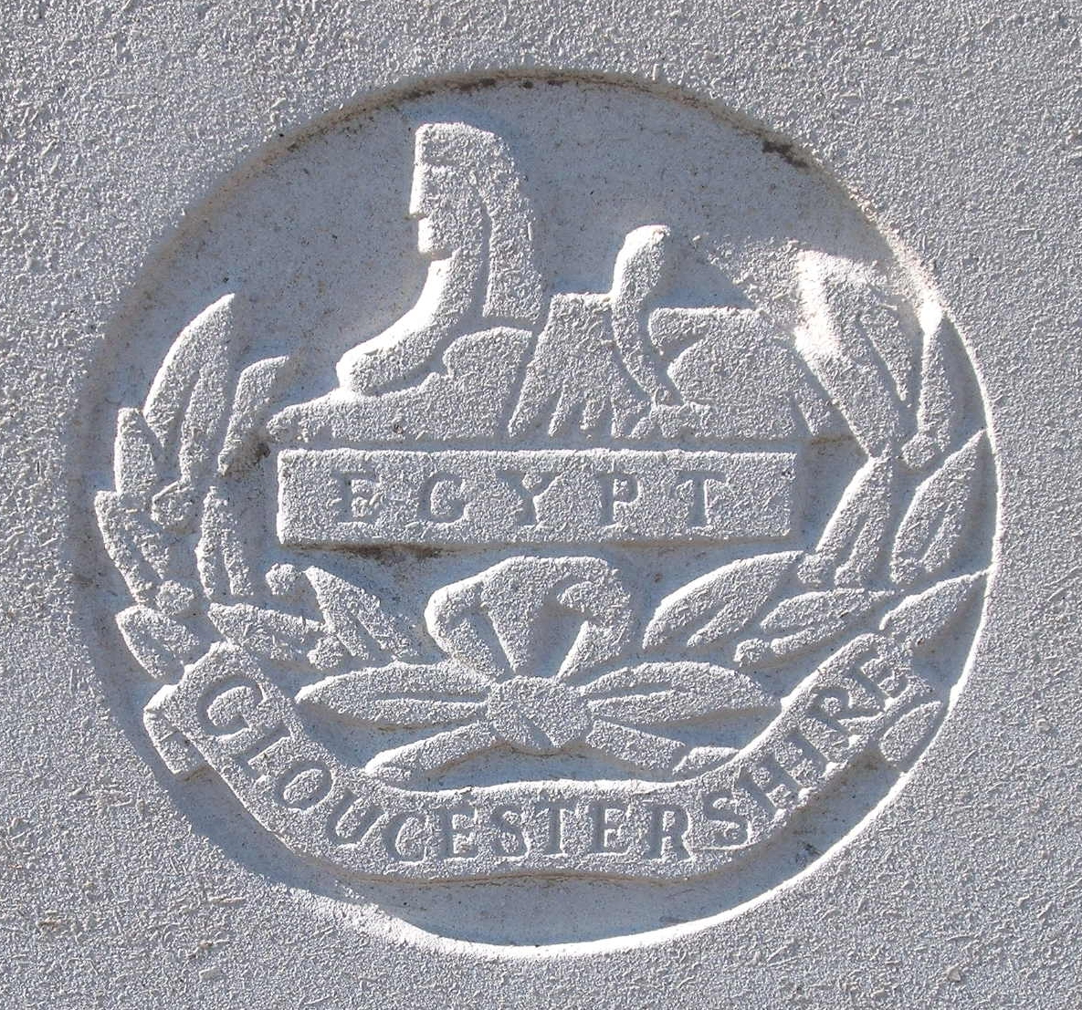 Capbadge of the Gloucestershire Regiment