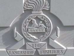 Cap badge of the Lancashire Fusiliers