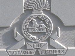 Cap badge of the Lancashire Fusiliers