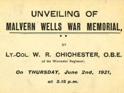 Invitation to the unveiling of the memorial