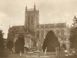 The Priory Church of Ss Mary & Michael, Great Malvern from the north ca 1930