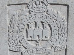 Capbadge of the Suffolk Regiment