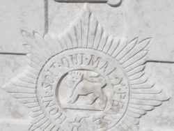 Cap badge of the Worcestershire Regiment