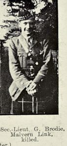 Second-Lieutenant George Brodie of Malvern
