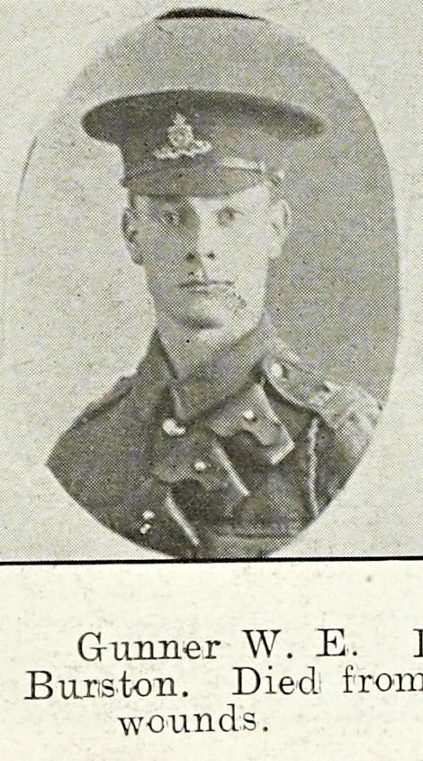 Walter Burston of Newtown, Malvern.
