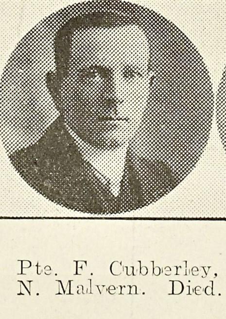 Frank Cubberley of North Malvern