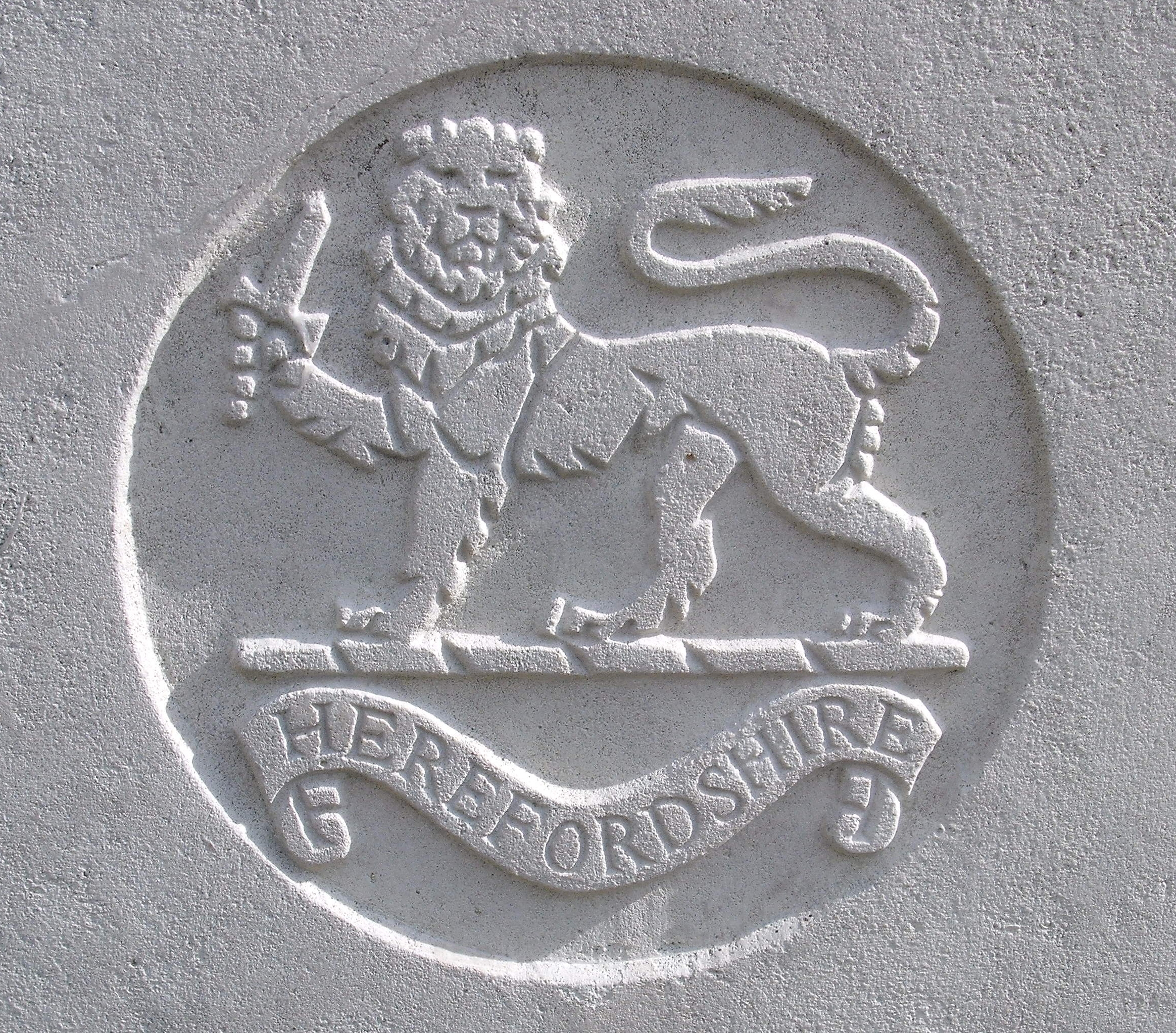 Capbadge of the Herefordshire Regiment
