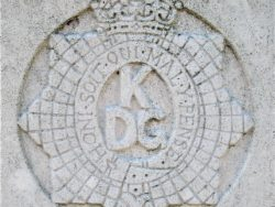 Cap badge of the Kings Dragoon Guards