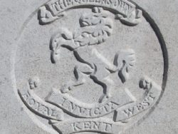 Capbadge of the Royal West Kent Regiment