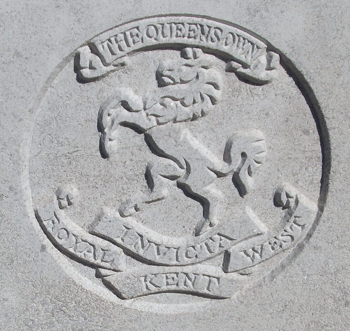 Capbadge of the Royal West Kent Regiment