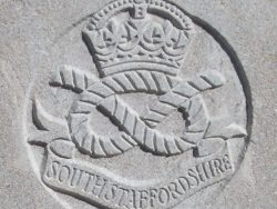 Capbadge of the South Staffordshire Regiment