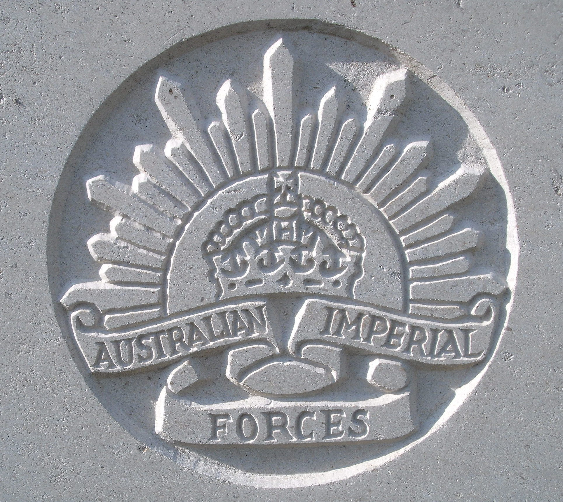 Capbadge of the Australian Imperial Force