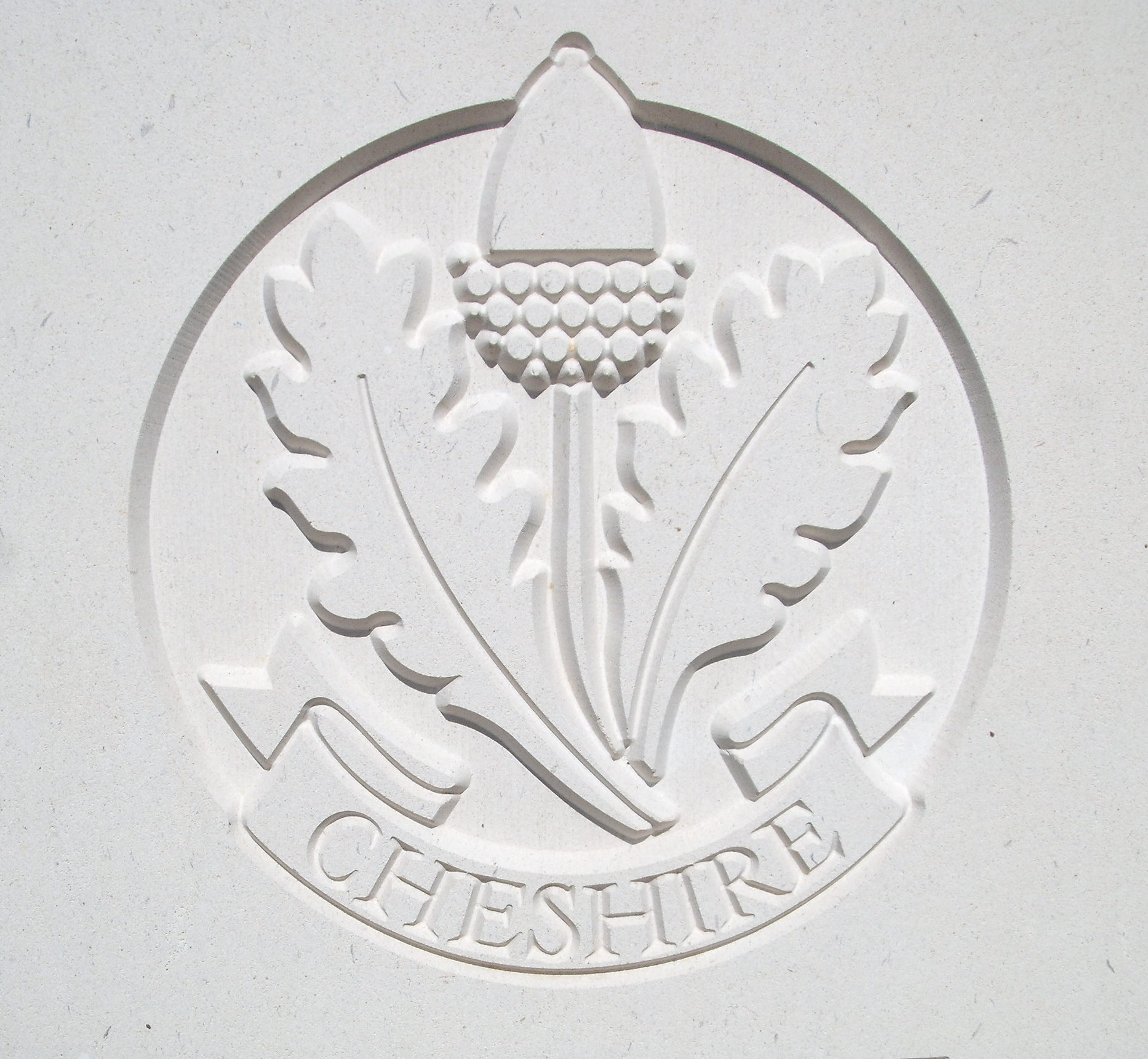 Capbadge of the Cheshire Regiment