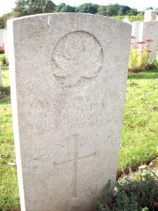 Ernest Garbett's grave at Lapugnoy Military Cemetery
