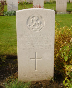 General Fitton's grave at Lijssenthoek Military Cemetery