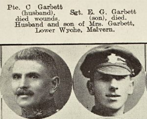 Father and son, Charles and Ernest Garbett who gave their lives for their country.