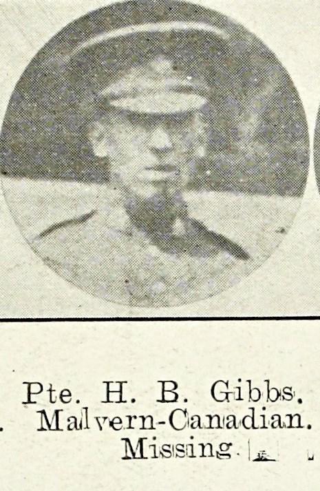 Horace Boddington Gibbs, late of the Wyche