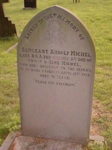 Rudolf Michel's headstone
