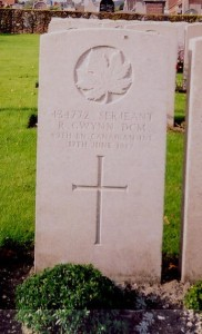 Ralph Gwynn's headstone
