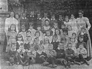 Photograph of Cecil and Albert's class at Cowleigh Schoo