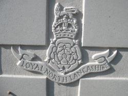 Capbadge of the Loyal North Lancashire Regiment