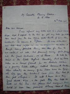 Letter from Sister G A Howe 37 CCS p 1