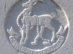 Capbadge of the Royal Warwickshire Regiment