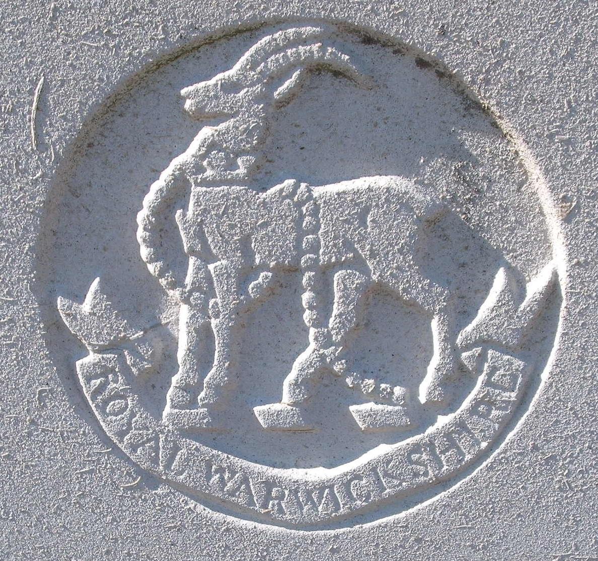 Capbadge of the Royal Warwickshire Regiment