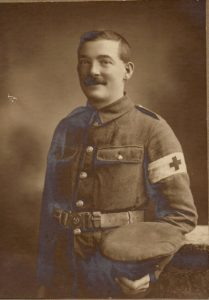 Samuel, Ralph Gwynne's brother who lost his leg as a stretcher bearer in August 1917.