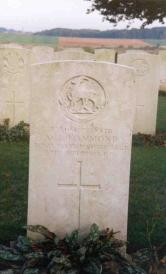 Arthur Hammond's headstone